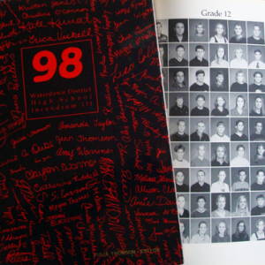 High school yearbook from 1998