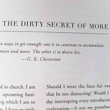 The dirty secret of more from Chasing Slow by Erin Loechner