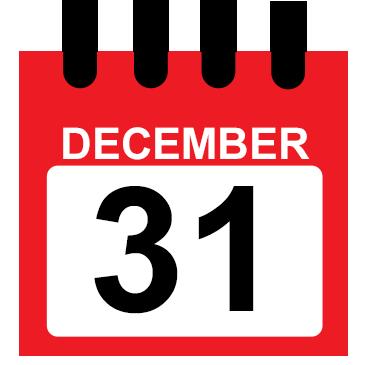 December 31 calendar icon