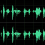 Audio waveform picture